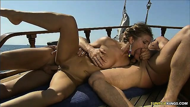 Wife fucked on the boat